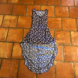 CLOSET CLEAR OUT! high low patterned dress